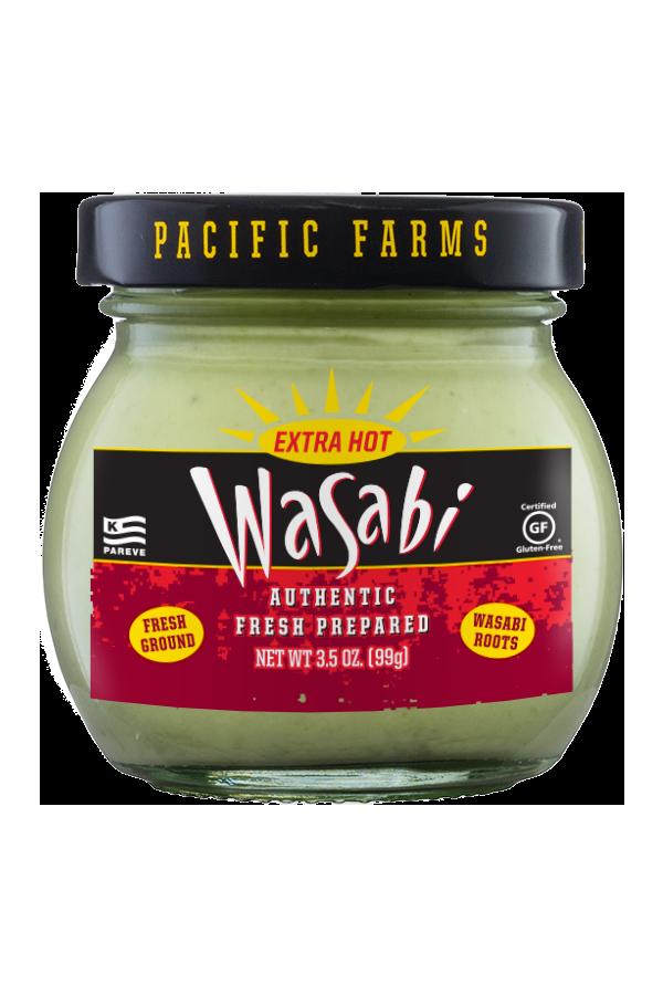 Pacific Farms Authentic Fresh Prepared Wasabi front 6oz